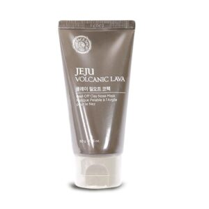 6. The Face Shop Jeju Volcanic Lava Peel Off Clay Nose Mask